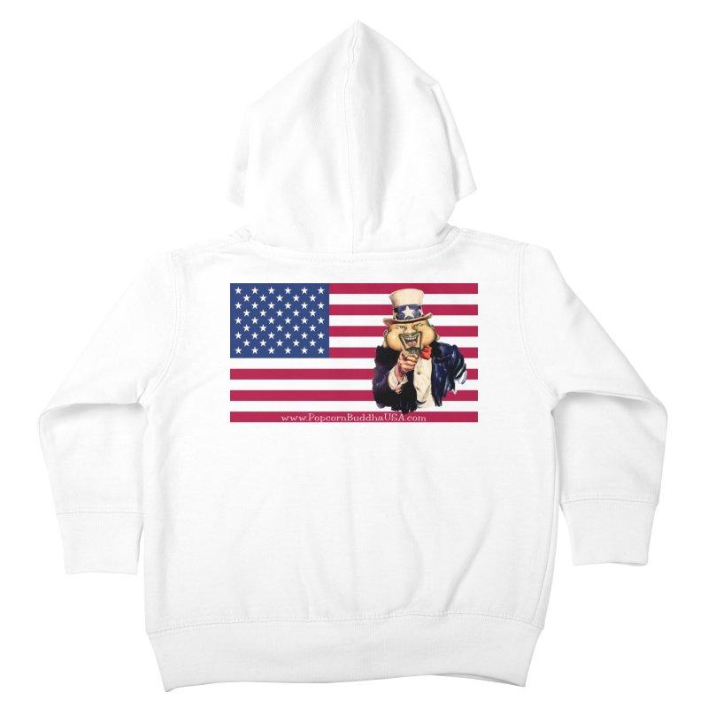 American Flag Kids Toddler Zip-Up Hoody by Popcorn Buddha Merchandise