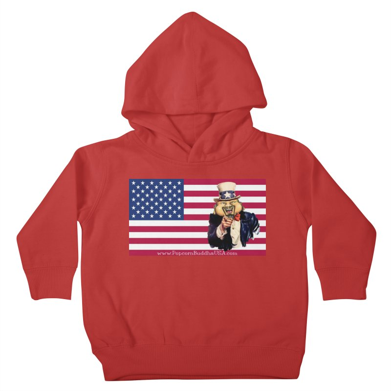 American Flag Kids Toddler Pullover Hoody by Popcorn Buddha Merchandise