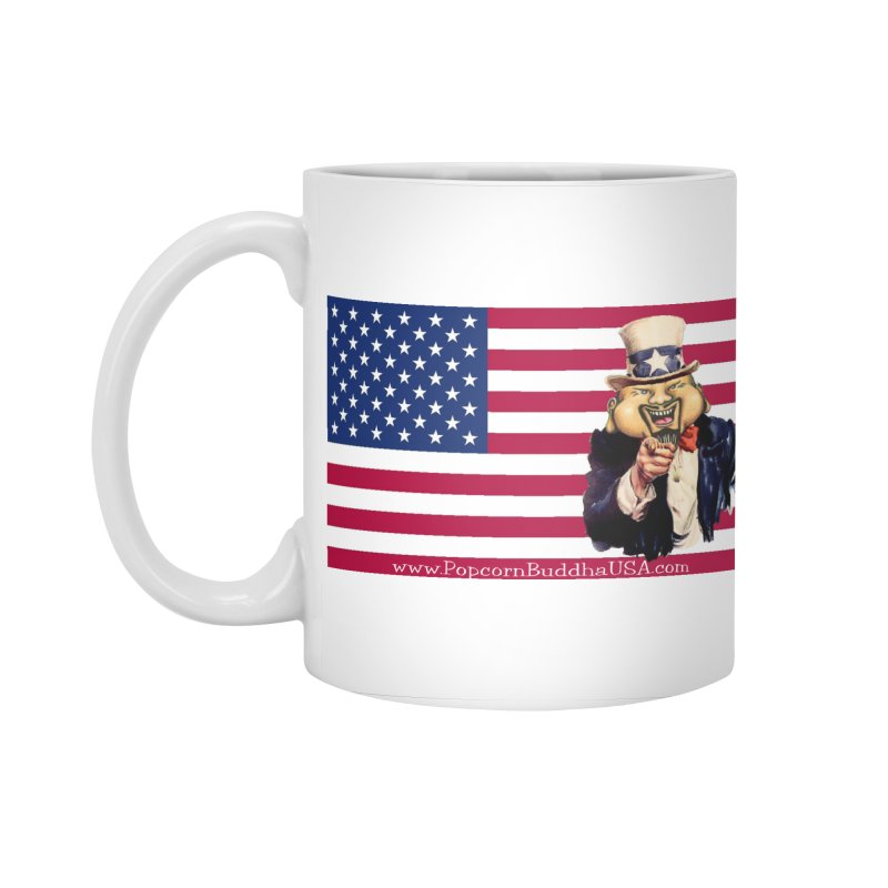 American Flag Accessories Standard Mug by Popcorn Buddha Merchandise