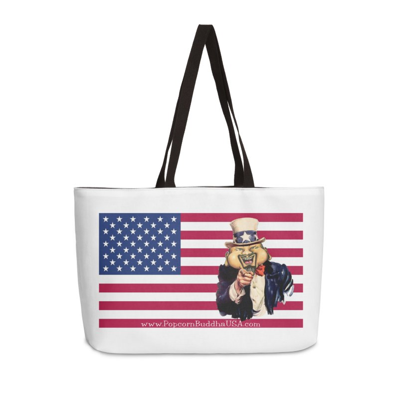 American Flag Accessories Weekender Bag Bag by Popcorn Buddha Merchandise