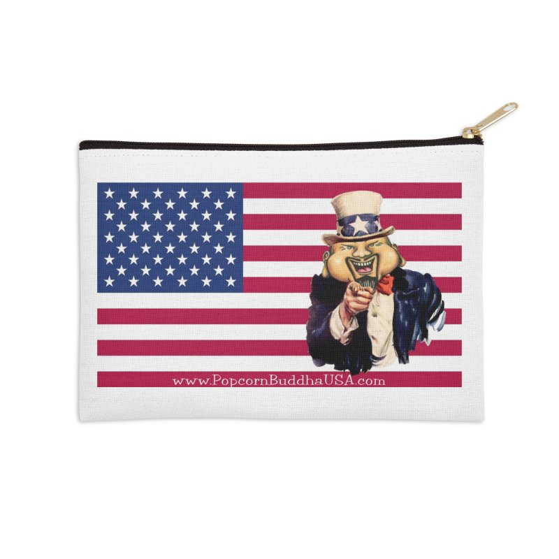 American Flag Accessories Zip Pouch by Popcorn Buddha Merchandise