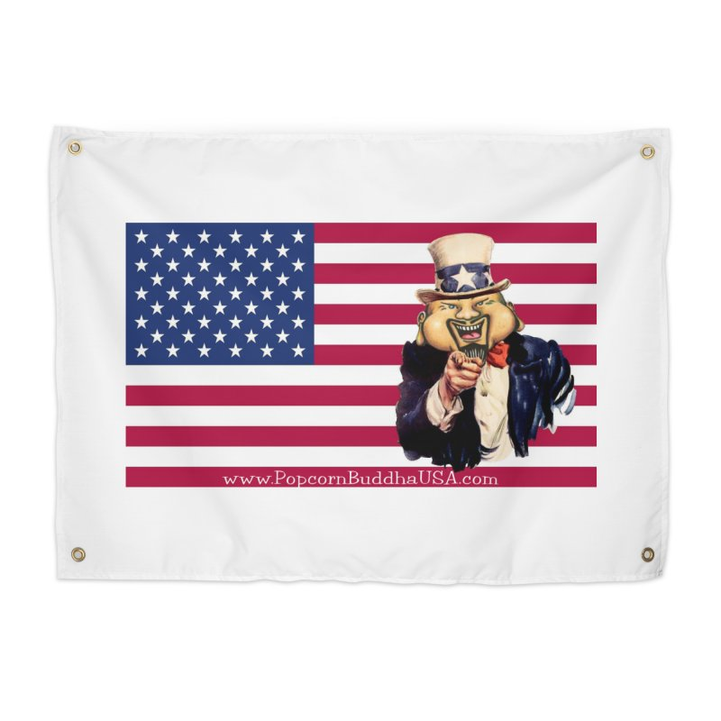 American Flag Home Tapestry by Popcorn Buddha Merchandise