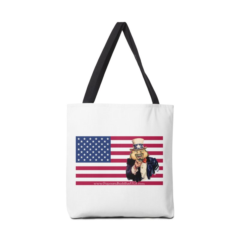 American Flag Accessories Tote Bag Bag by Popcorn Buddha Merchandise