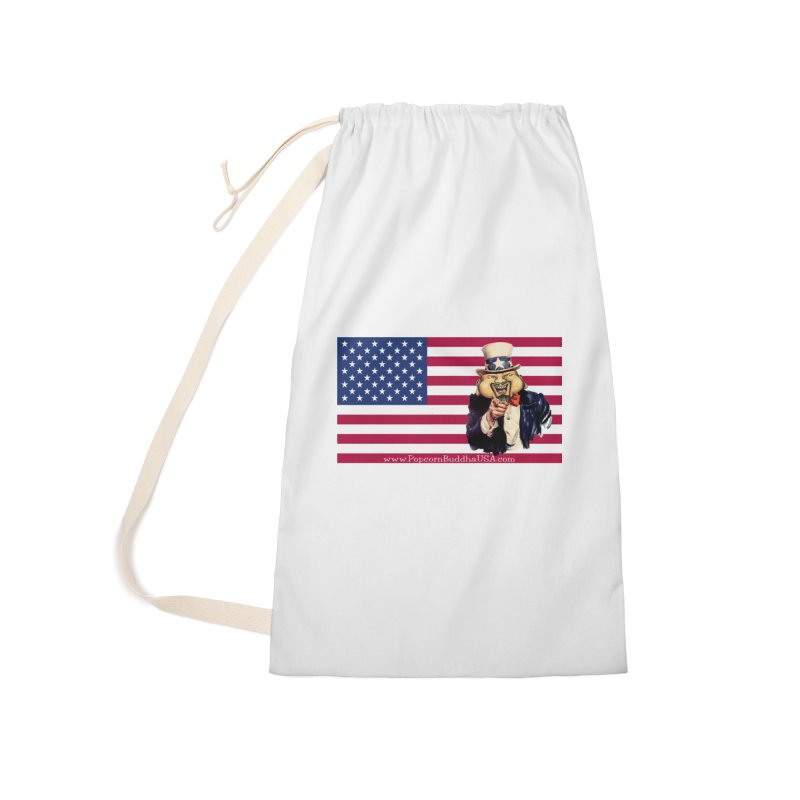 American Flag Accessories Laundry Bag Bag by Popcorn Buddha Merchandise