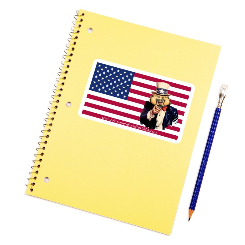 American Flag Accessories Sticker by Popcorn Buddha Merchandise