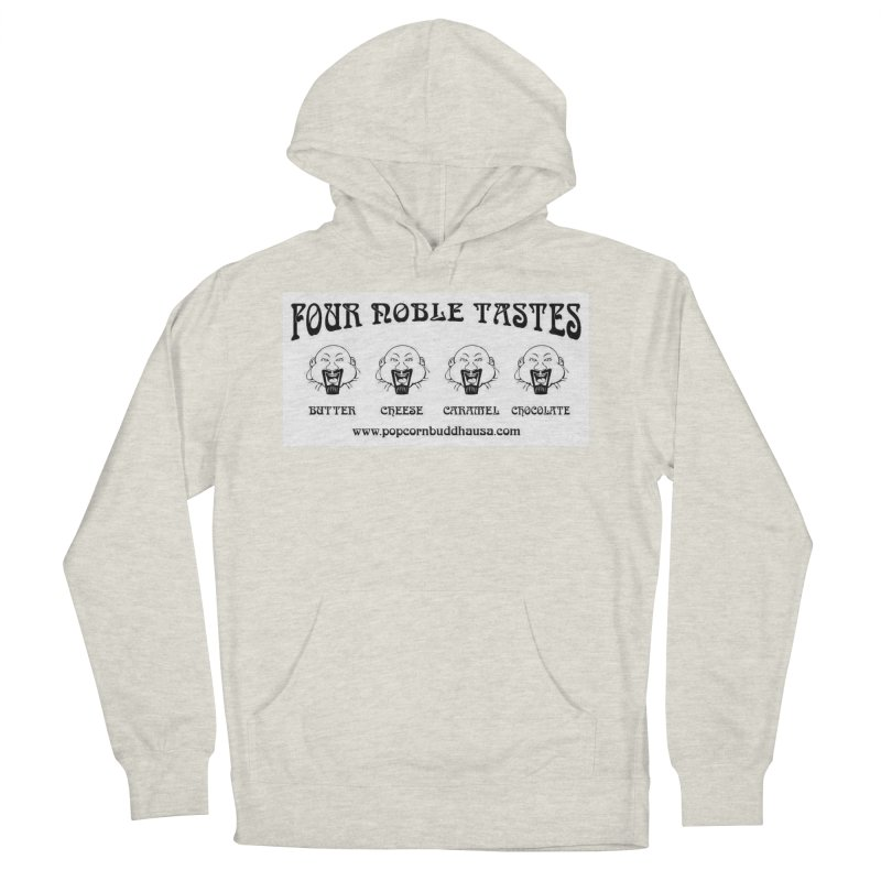 Four Noble Tastes Men's French Terry Pullover Hoody by Popcorn Buddha Merchandise