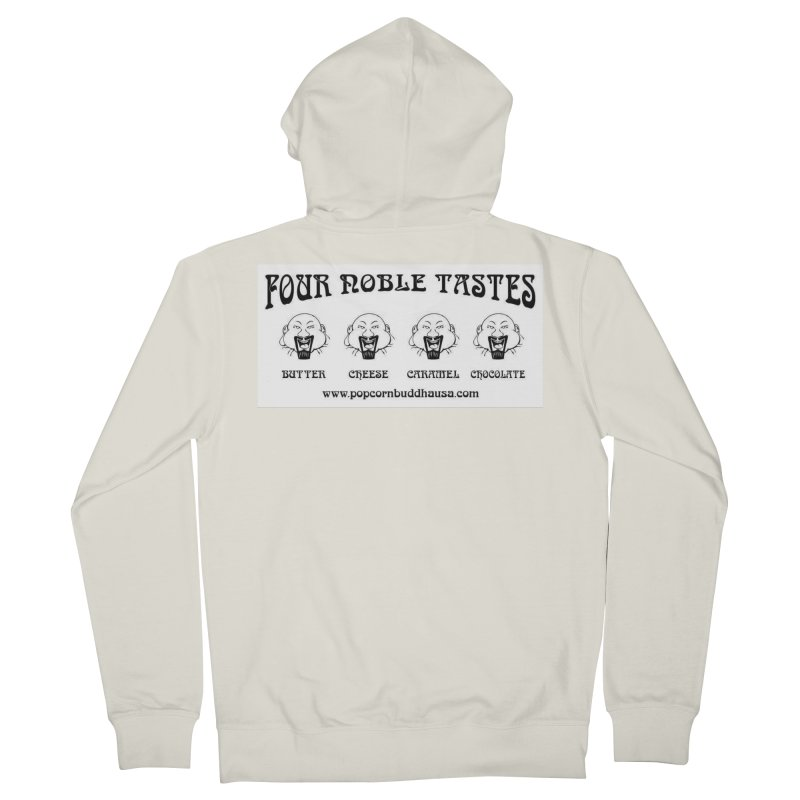 Four Noble Tastes Men's French Terry Zip-Up Hoody by Popcorn Buddha Merchandise