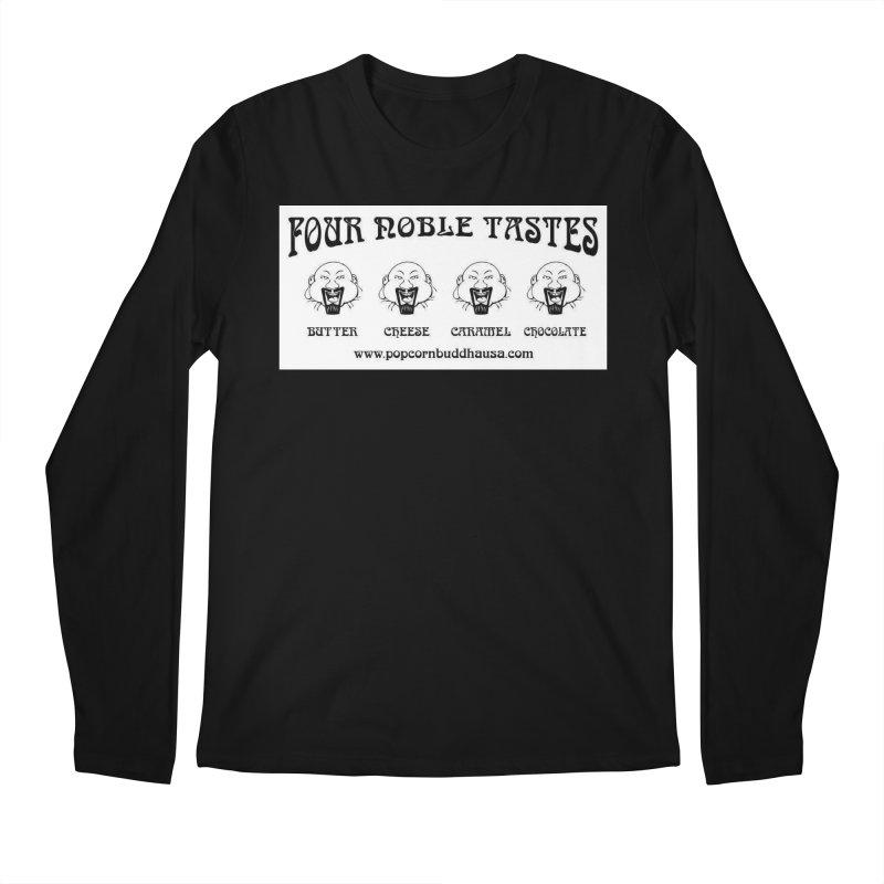 Four Noble Tastes Men's Regular Longsleeve T-Shirt by Popcorn Buddha Merchandise