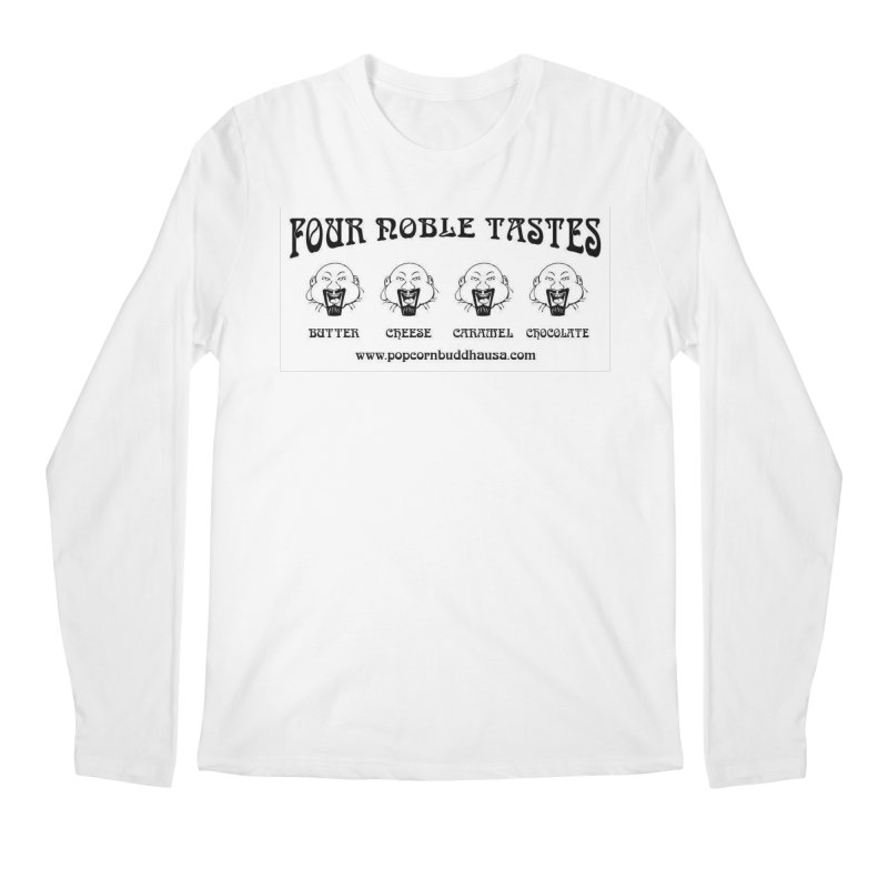 Four Noble Tastes Men's Regular Longsleeve T-Shirt by Popcorn Buddha Merchandise