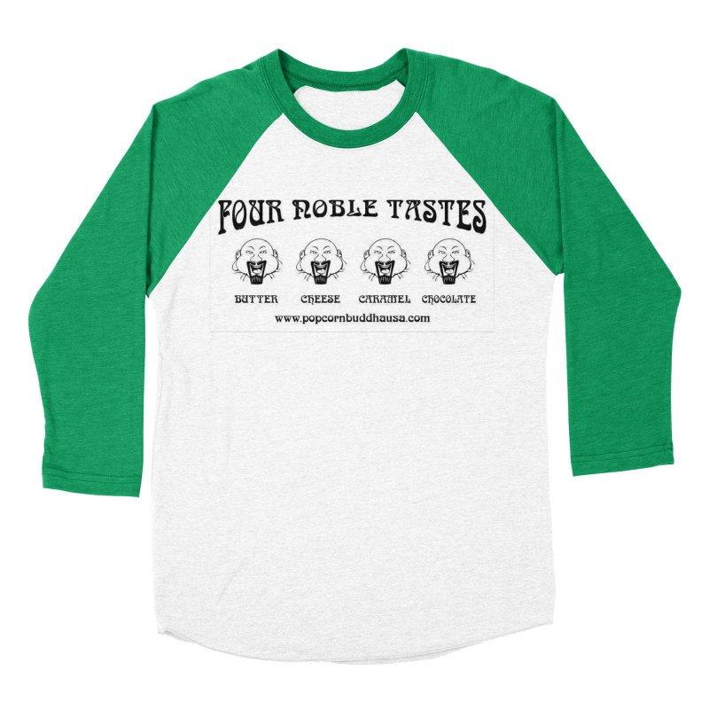 Four Noble Tastes Men's Baseball Triblend Longsleeve T-Shirt by Popcorn Buddha Merchandise