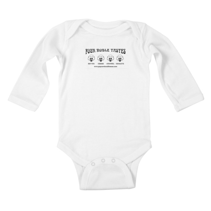 Four Noble Tastes Kids Baby Longsleeve Bodysuit by Popcorn Buddha Merchandise