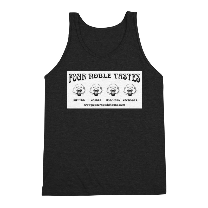 Four Noble Tastes Men's Triblend Tank by Popcorn Buddha Merchandise