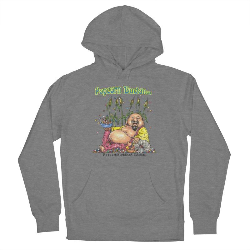 Popcorn Buddha Men's French Terry Pullover Hoody by Popcorn Buddha Merchandise