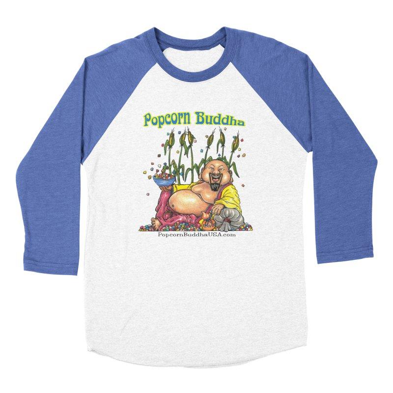 Popcorn Buddha Women's Baseball Triblend Longsleeve T-Shirt by Popcorn Buddha Merchandise