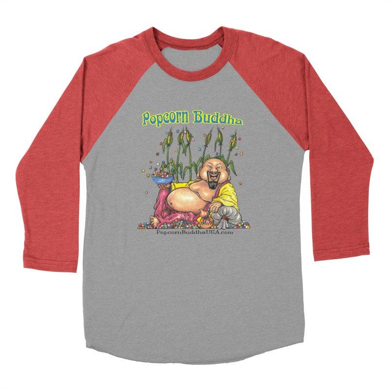 Popcorn Buddha Men's Baseball Triblend Longsleeve T-Shirt by Popcorn Buddha Merchandise