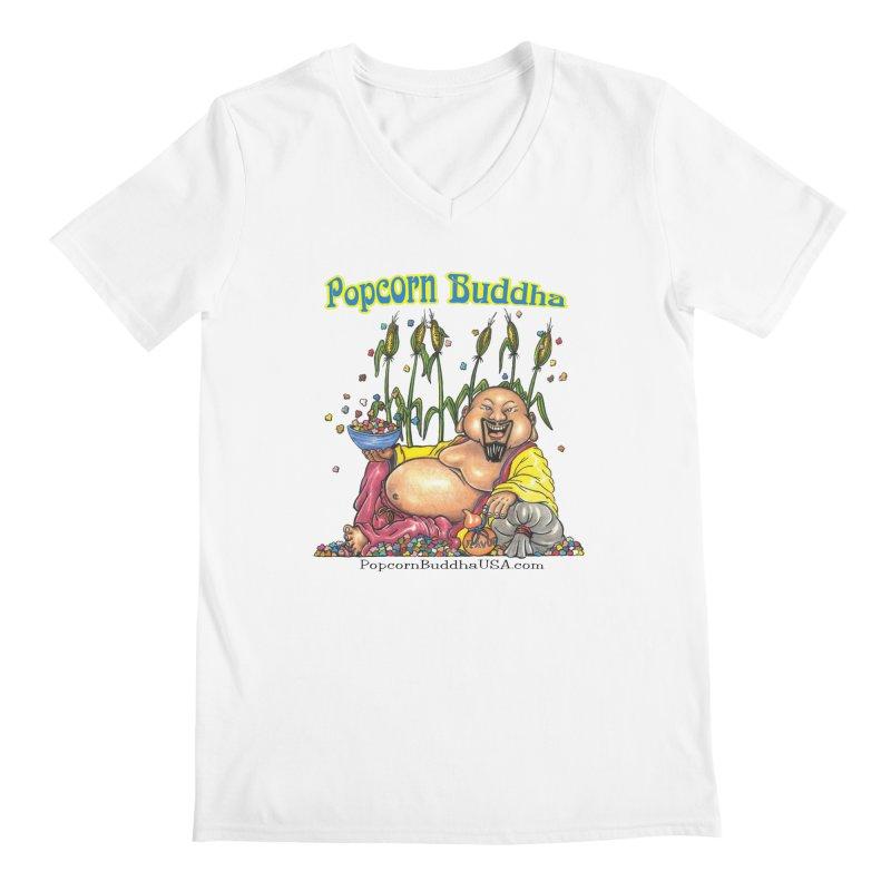 Popcorn Buddha Men's Regular V-Neck by Popcorn Buddha Merchandise