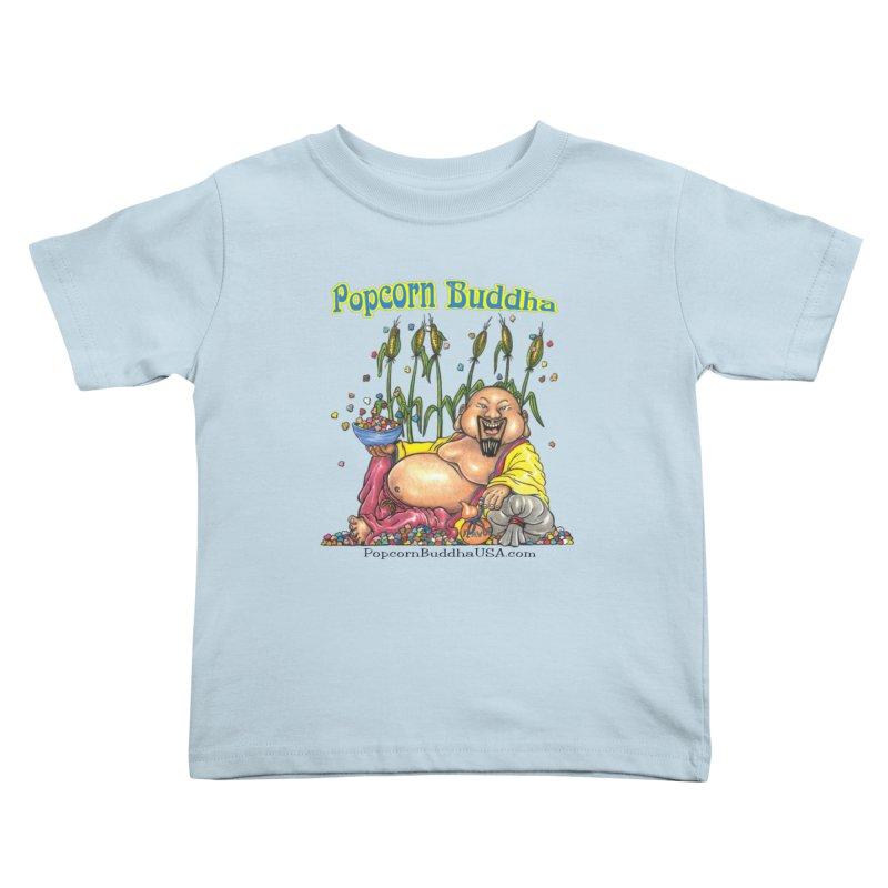 Popcorn Buddha Kids Toddler T-Shirt by Popcorn Buddha Merchandise