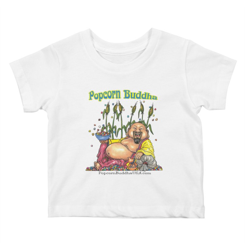 Popcorn Buddha Kids Baby T-Shirt by Popcorn Buddha Merchandise