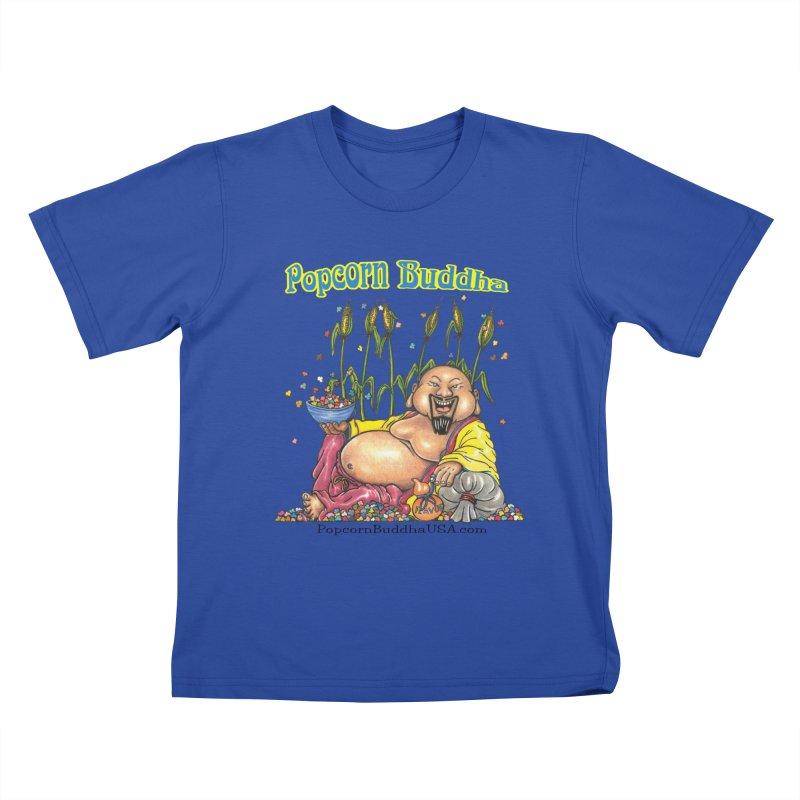 Popcorn Buddha Kids T-Shirt by Popcorn Buddha Merchandise