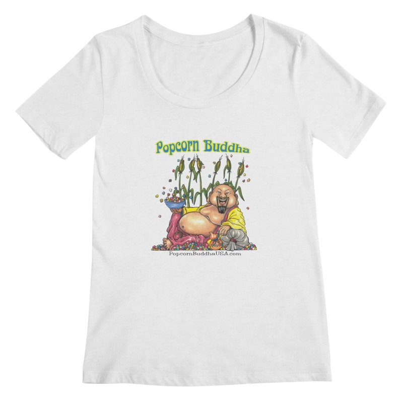 Popcorn Buddha Women's Regular Scoop Neck by Popcorn Buddha Merchandise