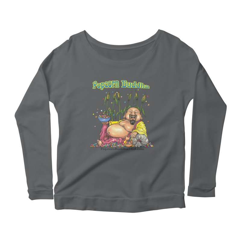 Popcorn Buddha Women's Scoop Neck Longsleeve T-Shirt by Popcorn Buddha Merchandise