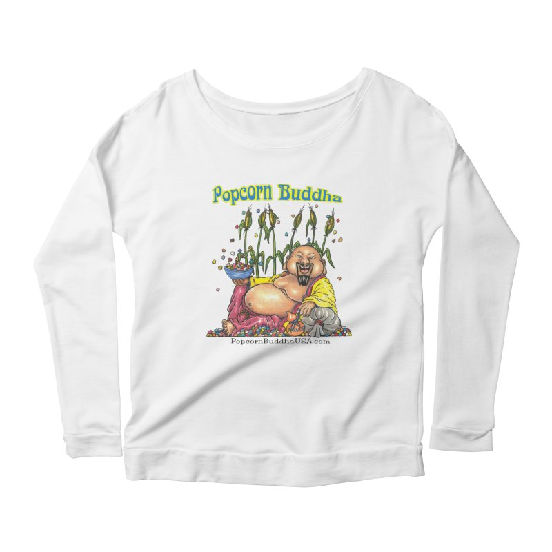Popcorn Buddha Women's Scoop Neck Longsleeve T-Shirt by Popcorn Buddha Merchandise