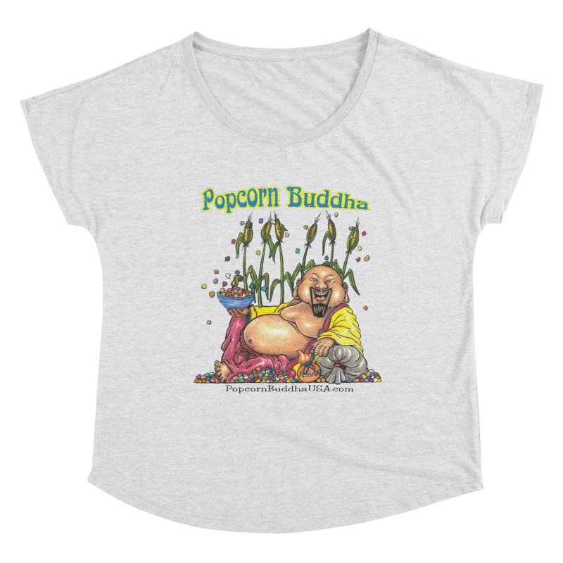 Popcorn Buddha Women's Dolman Scoop Neck by Popcorn Buddha Merchandise