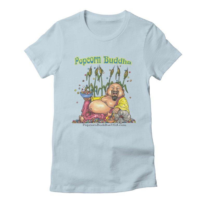 Popcorn Buddha Women's Fitted T-Shirt by Popcorn Buddha Merchandise