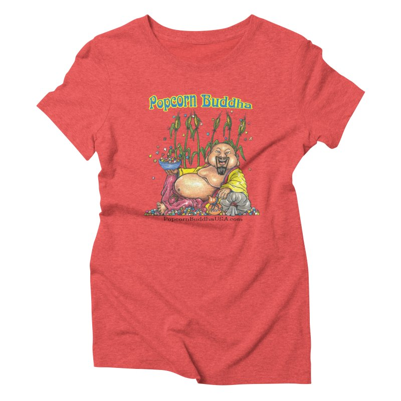 Popcorn Buddha Women's Triblend T-Shirt by Popcorn Buddha Merchandise