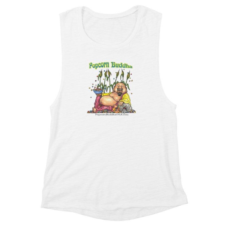 Popcorn Buddha Women's Muscle Tank by Popcorn Buddha Merchandise