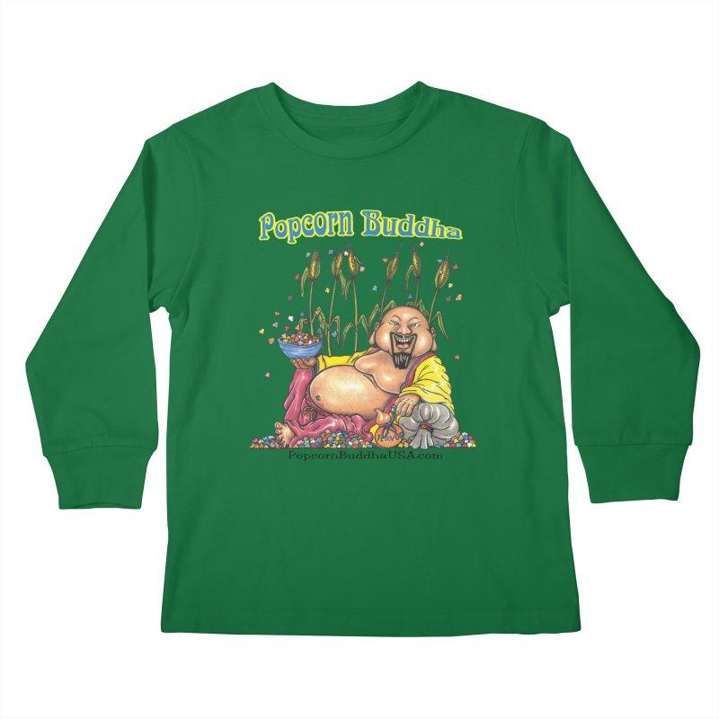 Popcorn Buddha Kids Longsleeve T-Shirt by Popcorn Buddha Merchandise