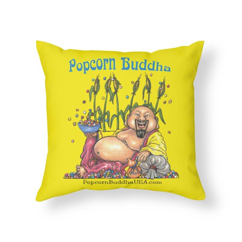 Popcorn Buddha Home Throw Pillow by Popcorn Buddha Merchandise