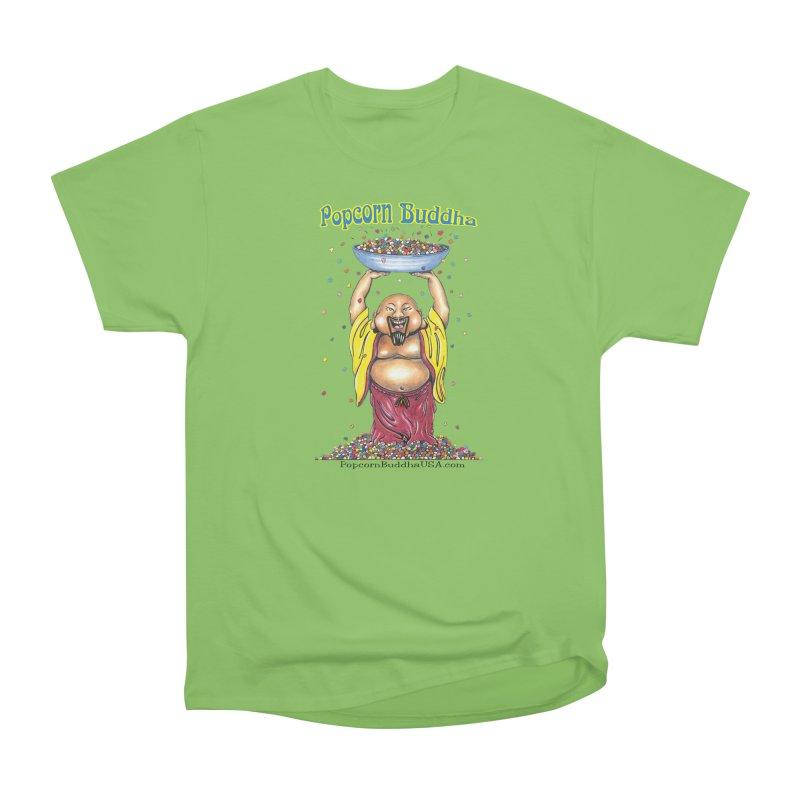 Standing Popcorn Buddha Men's Heavyweight T-Shirt by Popcorn Buddha Merchandise