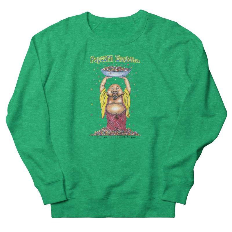 Standing Popcorn Buddha Women's French Terry Sweatshirt by Popcorn Buddha Merchandise
