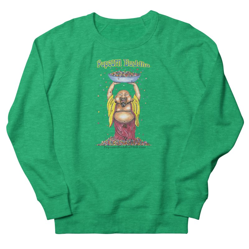 Standing Popcorn Buddha Men's French Terry Sweatshirt by Popcorn Buddha Merchandise