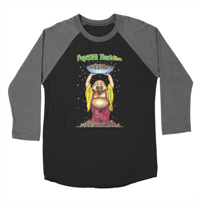 Standing Popcorn Buddha Women's Baseball Triblend Longsleeve T-Shirt by Popcorn Buddha Merchandise