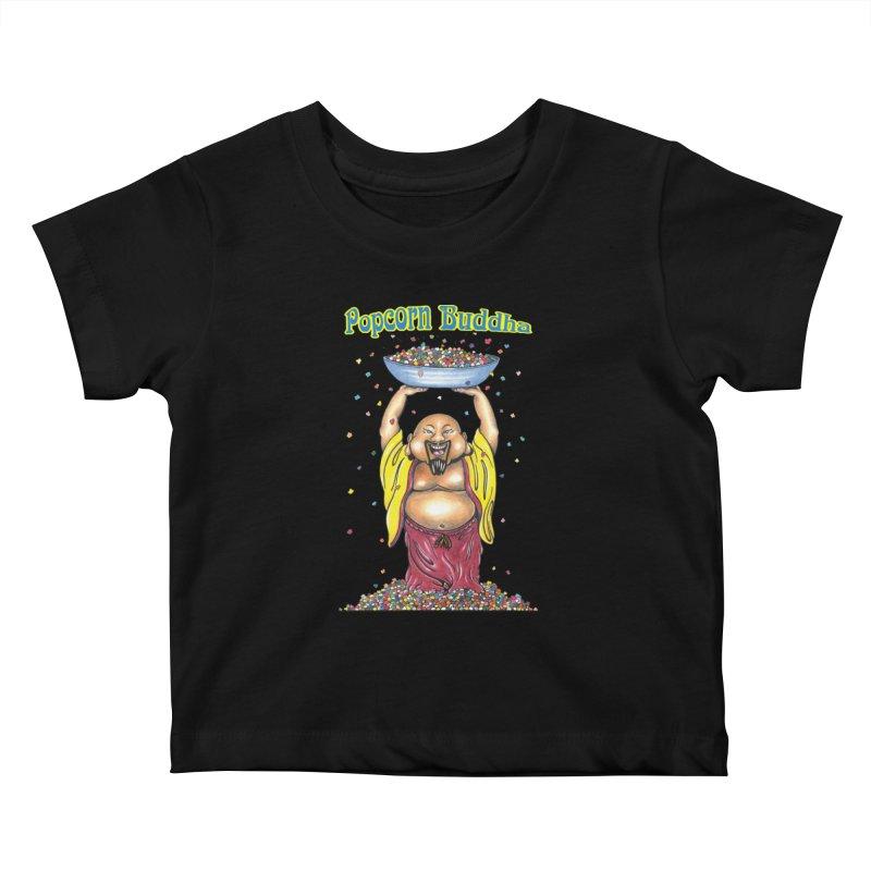 Standing Popcorn Buddha Kids Baby T-Shirt by Popcorn Buddha Merchandise