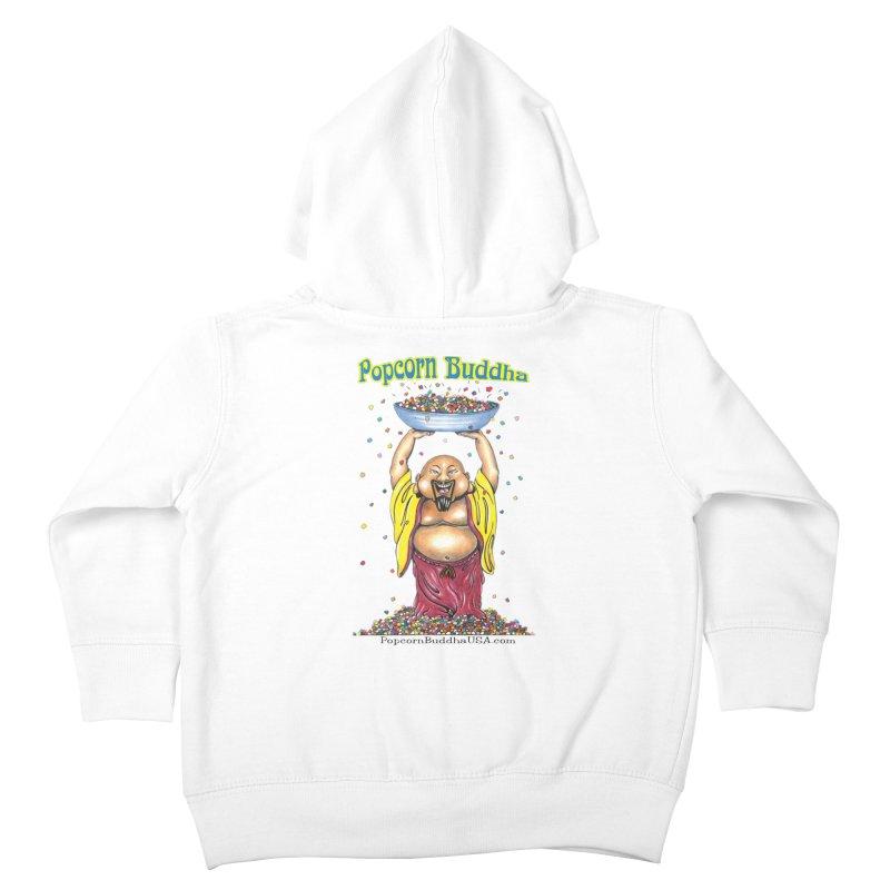 Standing Popcorn Buddha Kids Toddler Zip-Up Hoody by Popcorn Buddha Merchandise