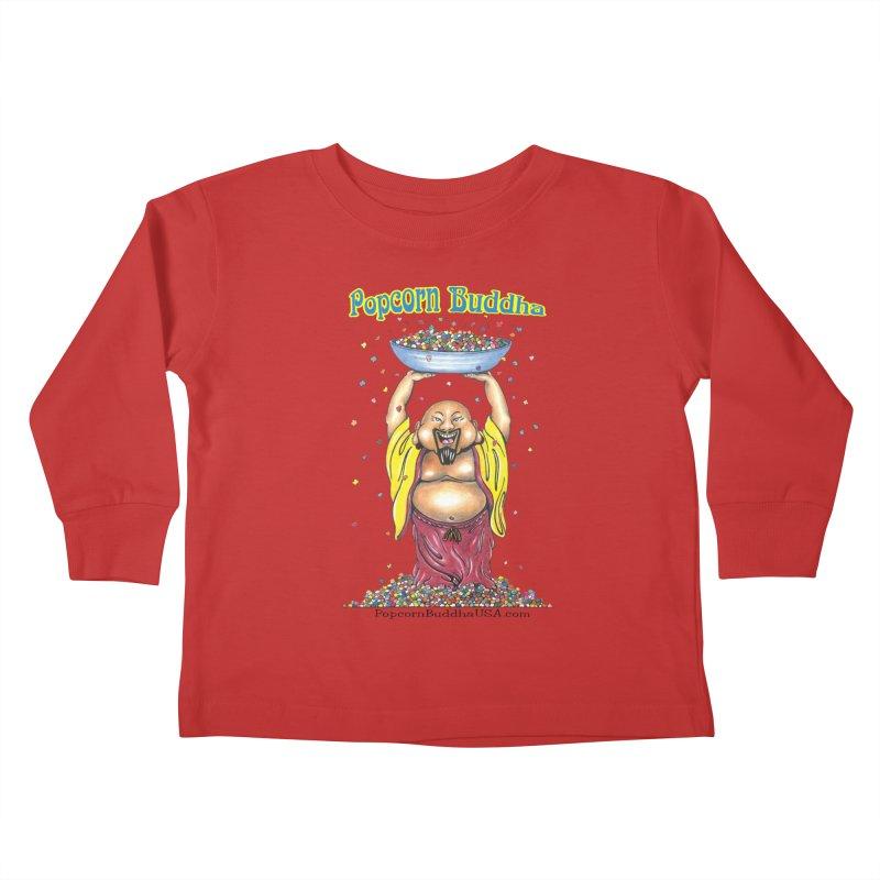Standing Popcorn Buddha Kids Toddler Longsleeve T-Shirt by Popcorn Buddha Merchandise
