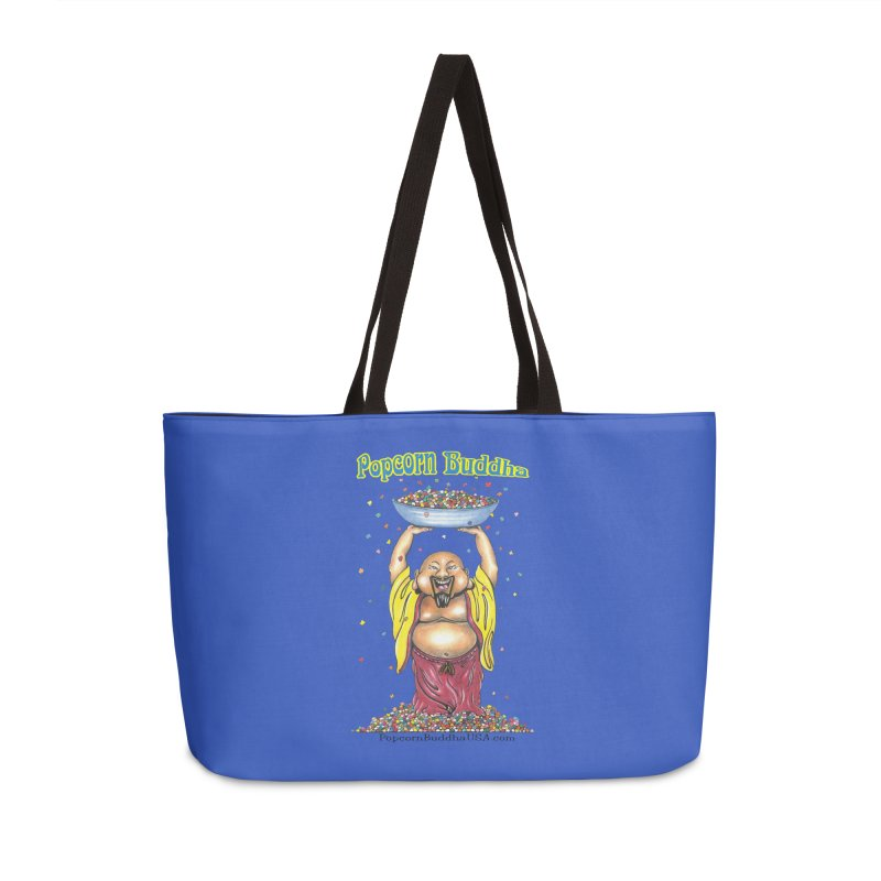 Standing Popcorn Buddha Accessories Weekender Bag Bag by Popcorn Buddha Merchandise