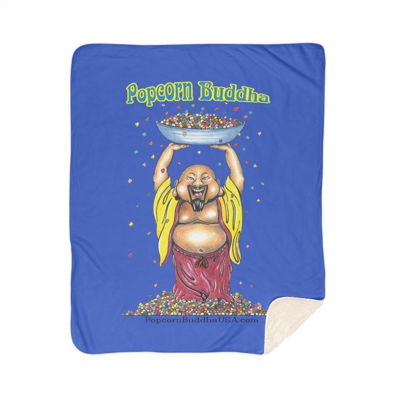Standing Popcorn Buddha Home Blanket by Popcorn Buddha Merchandise