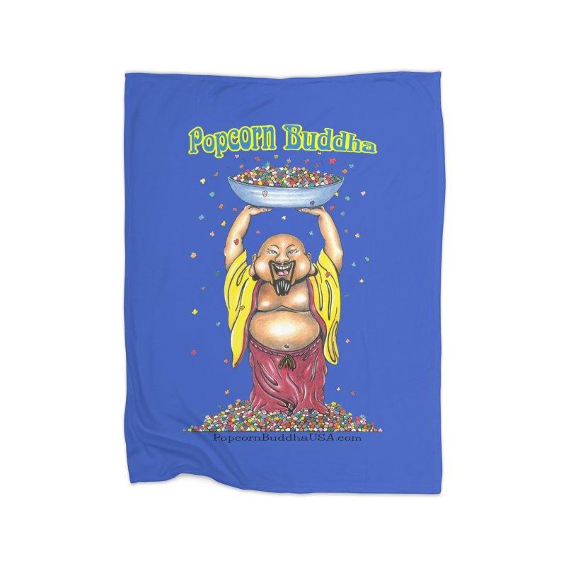 Standing Popcorn Buddha Home Fleece Blanket Blanket by Popcorn Buddha Merchandise