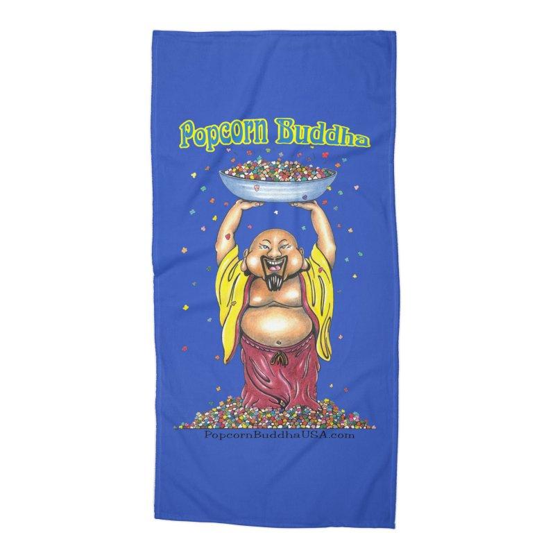 Standing Popcorn Buddha Accessories Beach Towel by Popcorn Buddha Merchandise
