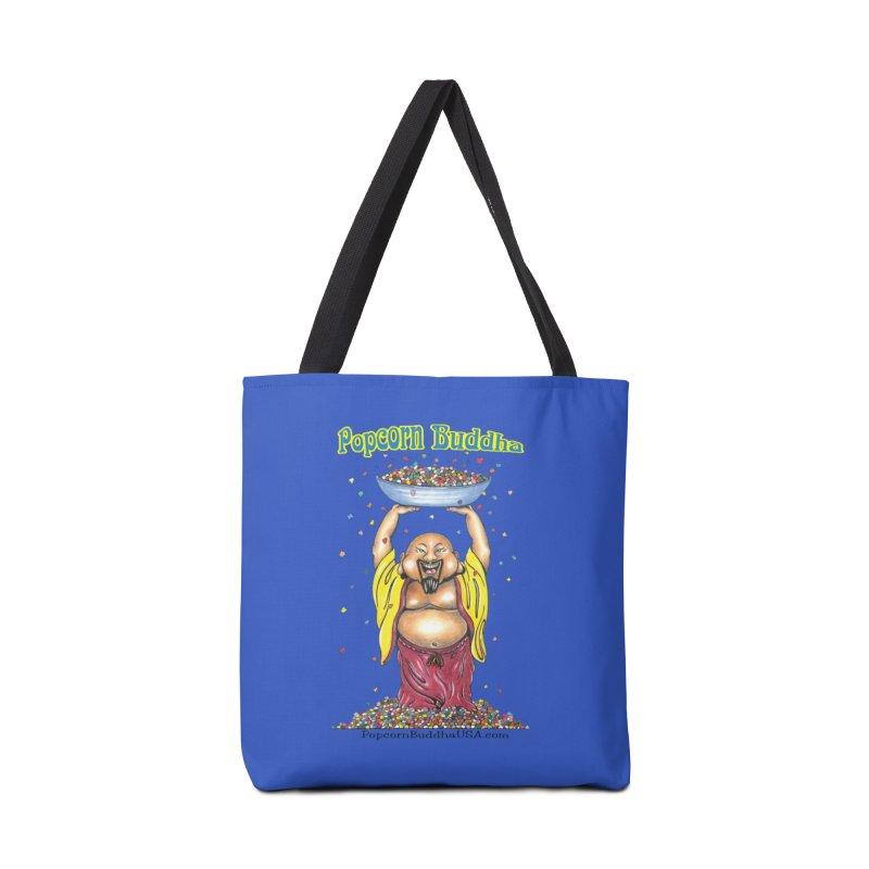 Standing Popcorn Buddha Accessories Tote Bag Bag by Popcorn Buddha Merchandise