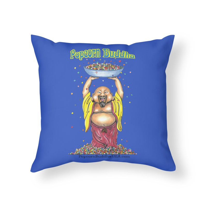 Standing Popcorn Buddha Home Throw Pillow by Popcorn Buddha Merchandise