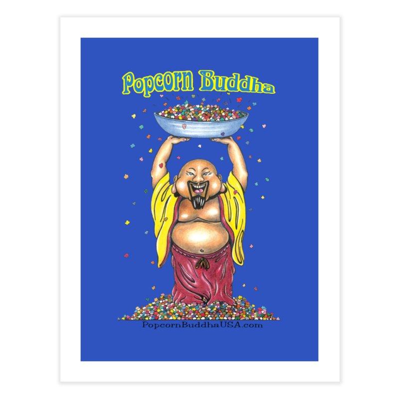 Standing Popcorn Buddha Home Fine Art Print by Popcorn Buddha Merchandise
