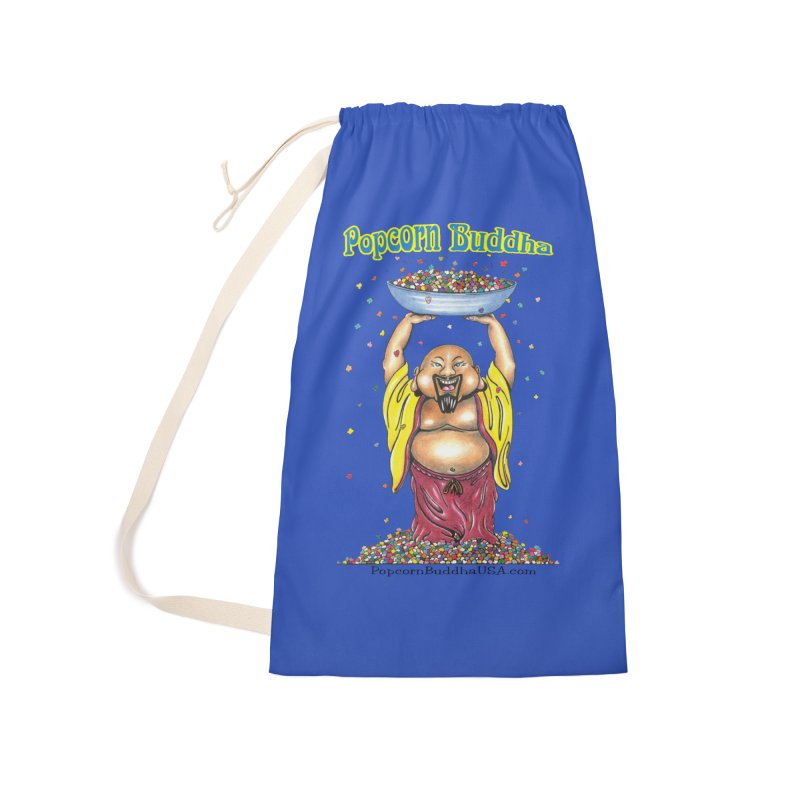 Standing Popcorn Buddha Accessories Laundry Bag Bag by Popcorn Buddha Merchandise