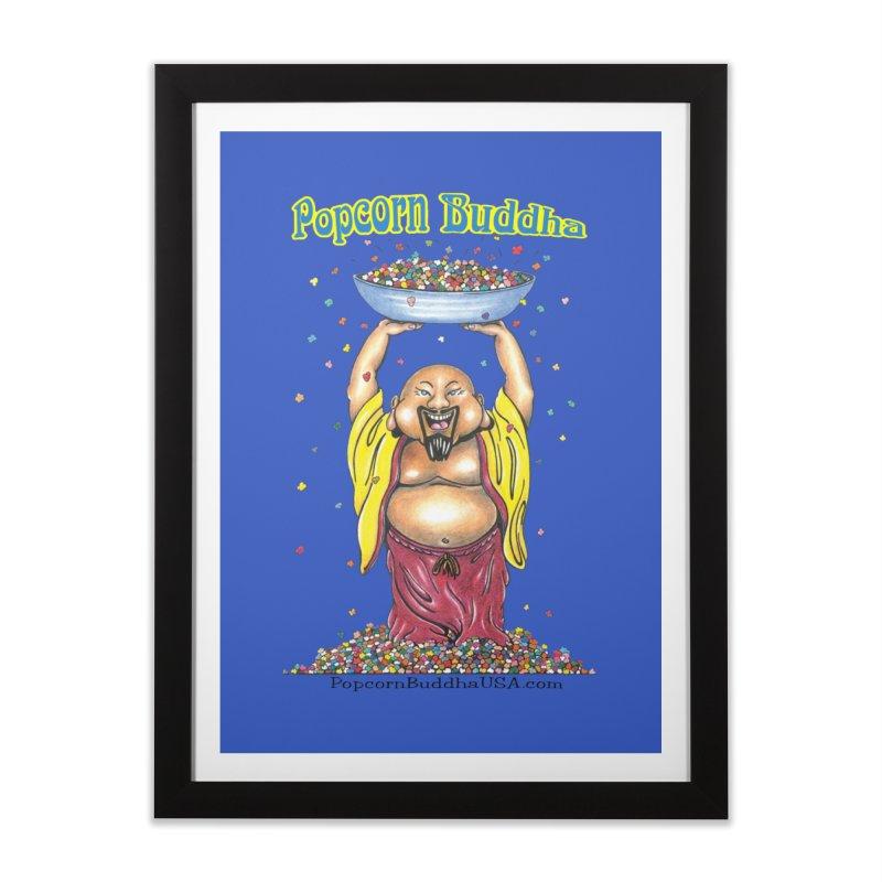 Standing Popcorn Buddha Home Framed Fine Art Print by Popcorn Buddha Merchandise
