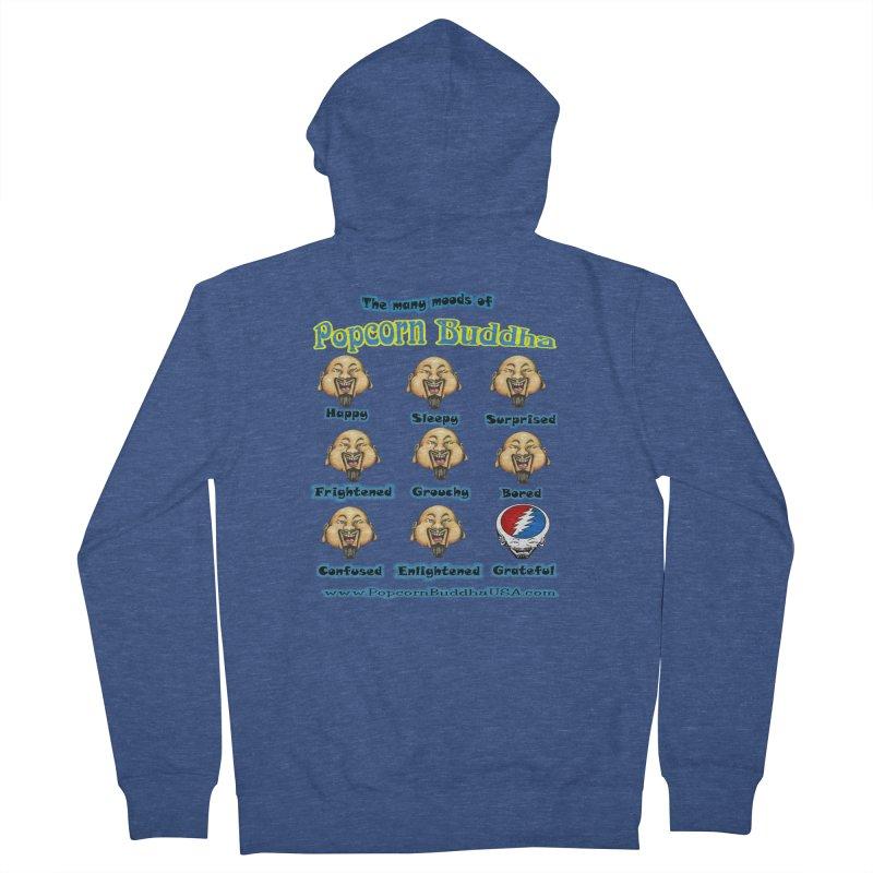 Grateful Mood Women's French Terry Zip-Up Hoody by Popcorn Buddha Merchandise