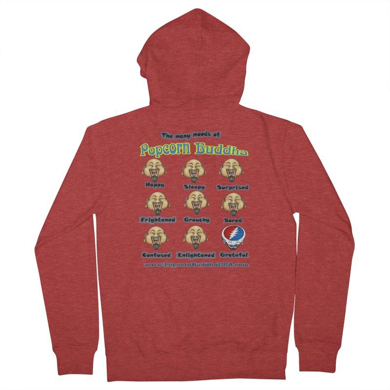 Grateful Mood Men's French Terry Zip-Up Hoody by Popcorn Buddha Merchandise